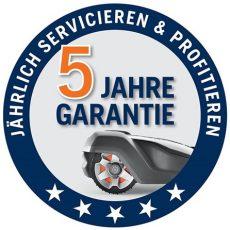 5 Jahres Garantie auf AutoMower